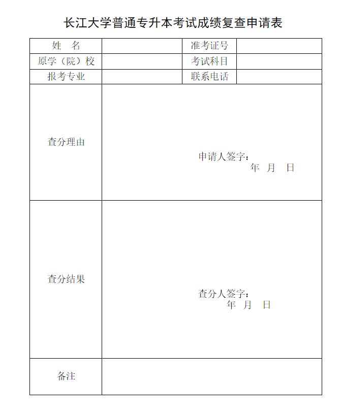 2019年长江大学普通专升本考试成绩查询