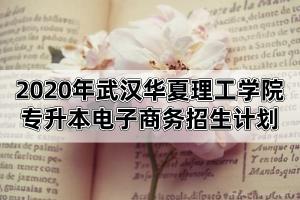 2020年武汉华夏理工学院专升本电子商务招生计划与考试科目