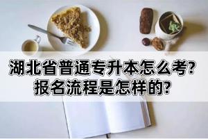 湖北省普通专升本怎么考?报名流程是怎样的?