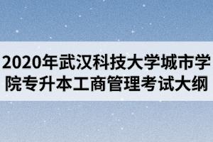 2020年武汉科技大学城市学院普通专升本《工商管理》专业考试大纲