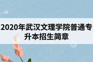 2020年武汉文理学院普通专升本招生简章