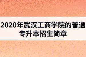 2020年武汉工商学院的普通专升本招生简章