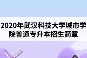2020年武汉科技大学城市学院普通专升本招生简章公布