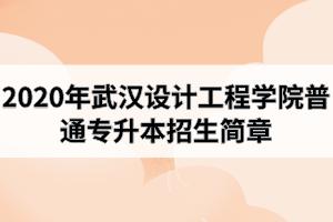 2020年武汉设计工程学院普通专升本招生简章