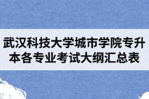 2020年武汉科技大学城市学院专升本各专业考试大纲汇总表