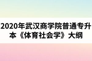 2020年武汉商学院普通专升本《体育社会学》考试大纲