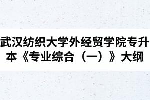 2020年武汉纺织大学外经贸学院普通专升本《专业综合(一)》考试大纲