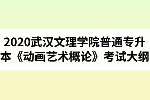 2020年武汉文理学院普通专升本《动画艺术概论》考试大纲