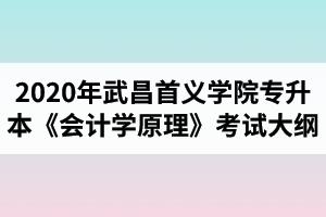 2020年武昌首义学院普通专升本财务管理专业 《会计学原理》考试大纲