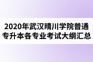 2020年武汉晴川学院普通专升本各专业考试大纲汇总