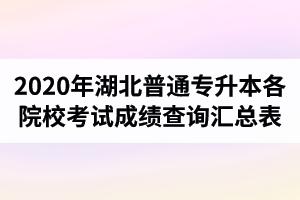 2020年湖北普通专升本各院校考试成绩查询汇总表