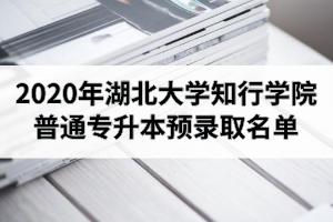 2020年湖北大学知行学院普通专升本预录取名单