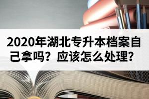 2020年湖北专升本档案自己拿吗?专升本成功后的档案应该怎么处理?