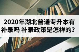 2020年湖北普通专升本有补录吗?补录政策是怎样的?