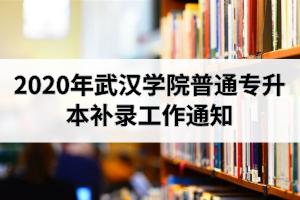 2020年武汉学院普通专升本补录工作通知