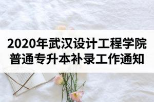 2020年武汉设计工程学院普通专升本补录工作通知