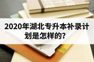 2020年湖北专升本补录计划是怎样的?什么时候开始补录?