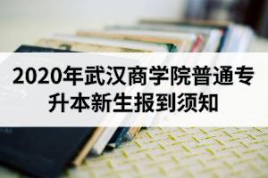 2020年武汉商学院普通专升本新生入学报到须知