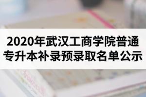 2020年武汉工商学院普通专升本补录预录取名单公示