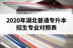 2020年湖北专升本招生专业对照表(2021级专升本考生可以作为专业选择参考)