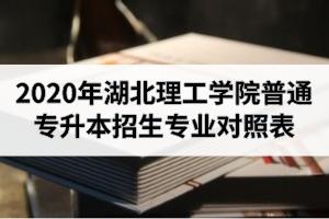 2020年湖北理工学院普通专升本招生专业对照表