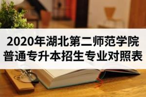 2020年湖北第二师范学院普通专升本招生专业对照表