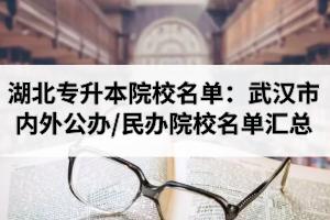 湖北专升本院校名单:武汉市内及武汉市外公办/民办院校名单汇总