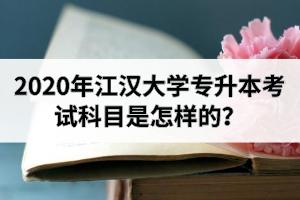 2020年江汉大学专升本考试科目是怎样的?