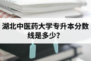 湖北中医药大学普通专升本录取分数线情况
