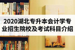 2020年湖北专升本会计学专业招生院校及考试科目介绍