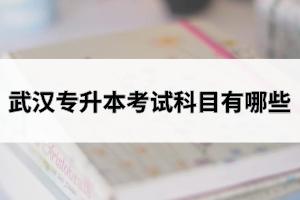 武汉专升本考试科目有哪些?