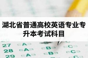 湖北省普通高校英语专业专升本考试科目