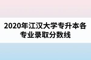 2020年江汉大学专升本各专业录取分数线