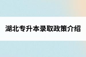 湖北专升本录取政策介绍