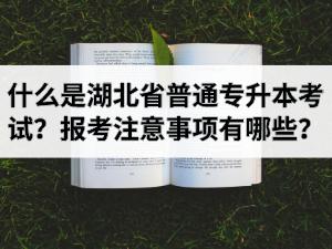 什么是湖北省普通专升本考试?报考注意事项有哪些?