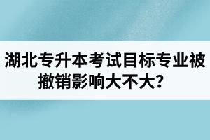 湖北专升本考试目标专业被撤销影响大不大?应该怎么办?