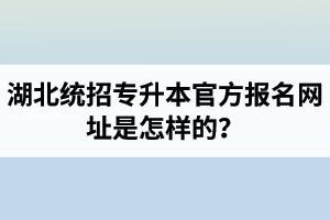 湖北统招专升本官方报名网址是怎样的?报名入口什么时候开启?