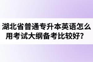 湖北省普通专升本英语怎么用考试大纲备考比较好?