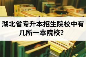 湖北省专升本招生院校中有几所一本院校?