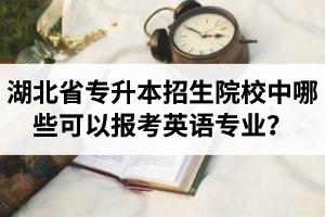 湖北省专升本招生院校中哪些可以报考英语专业?